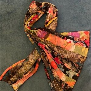 Accessories - Striped chiffon scarf